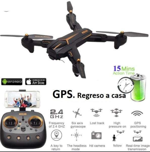 Drone Dron Con GPS VISUO XS812 Wifi Cámara HD 720p, retorno a casa automático. 200mts de alcance