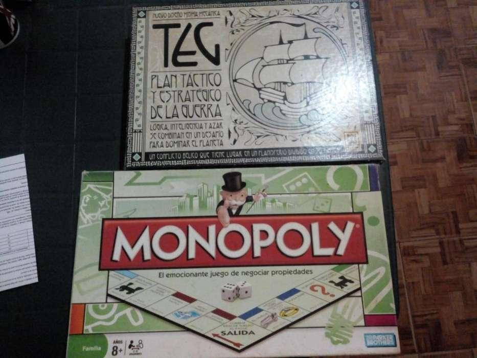 TEG y Monopoly Originales como nuevos
