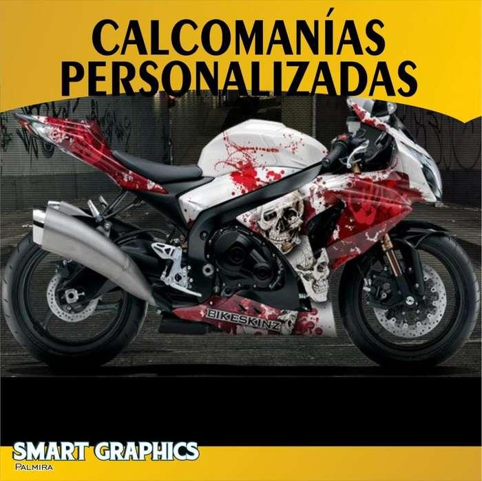 CALCOMANIAS STICKERS PERSONALIZADAS MOTOS VEHICULOS CARROS VINILOS DISEÑO GRAFICO CUSTOM PUBLICIDAD PALMIRA CALI