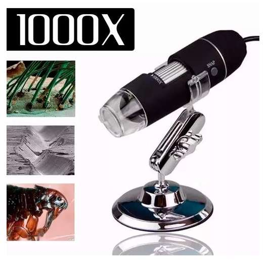 Microscopio Eléctronico Digital Luz Led Portátil Usb 1000x