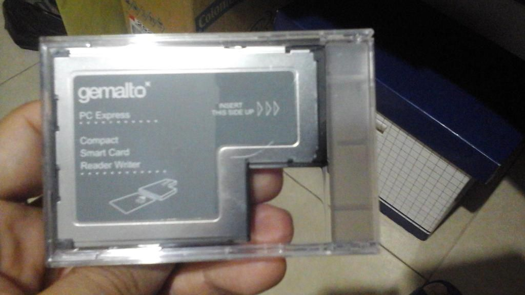 Gemalto express card reader from lenovo