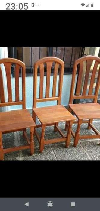 4 <strong>silla</strong>s de Estilo de Algarrobo