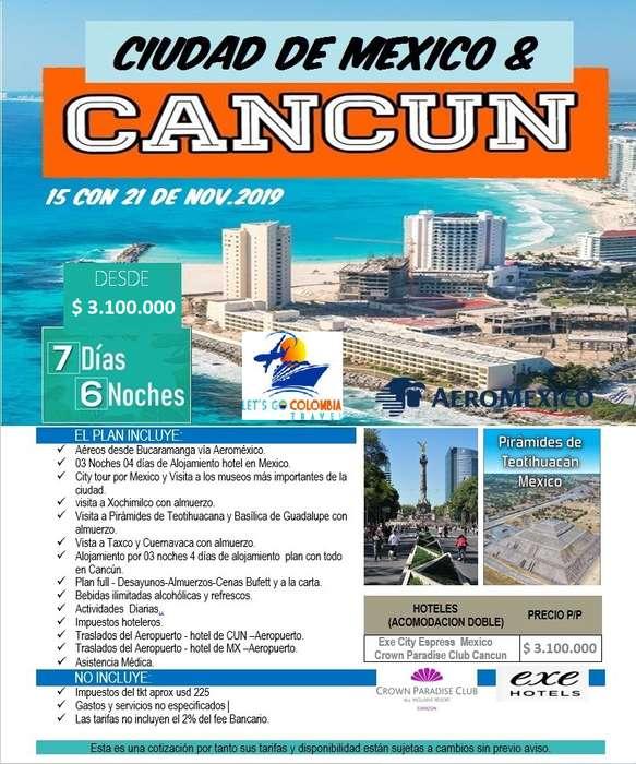 Ciudad de México y Cancun