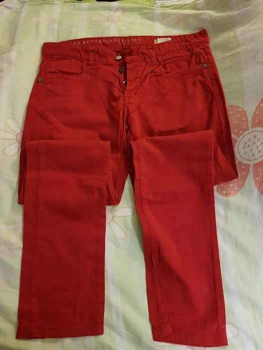 Pantalon Lona Rojo O Bordo O Borravino