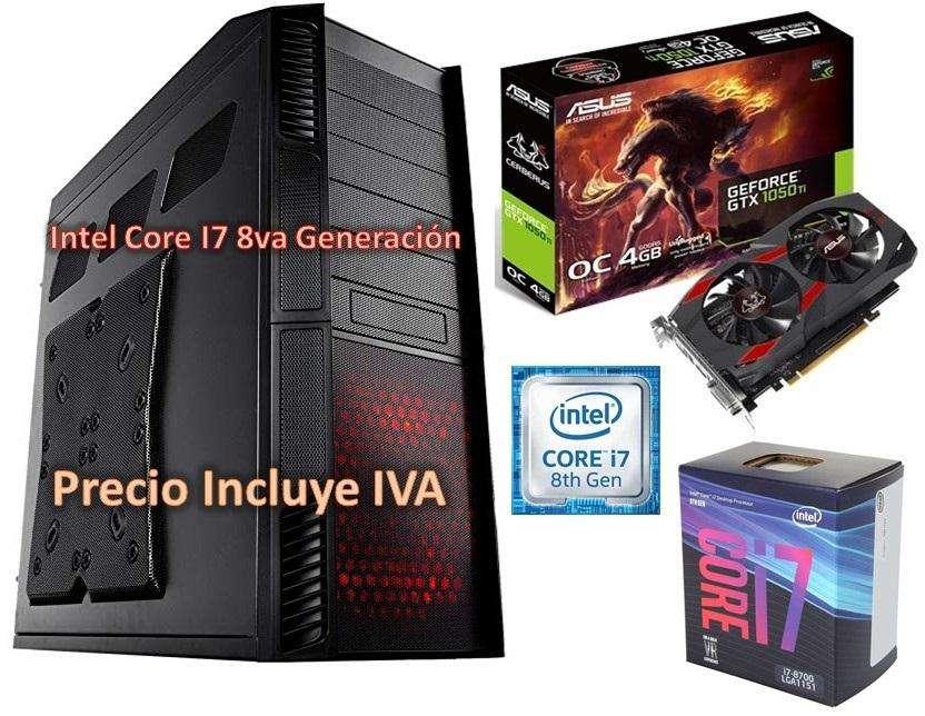 Computador Intel Core I7 8va Gen 2tb 16gb Gtx1050ti 4gb Cpu PRECIO INCLUYE IVA ENTREGA A DOMICILIO