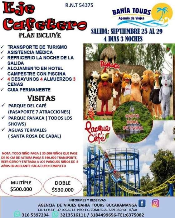 Tour Eje Cafetero 25 de Septiembre