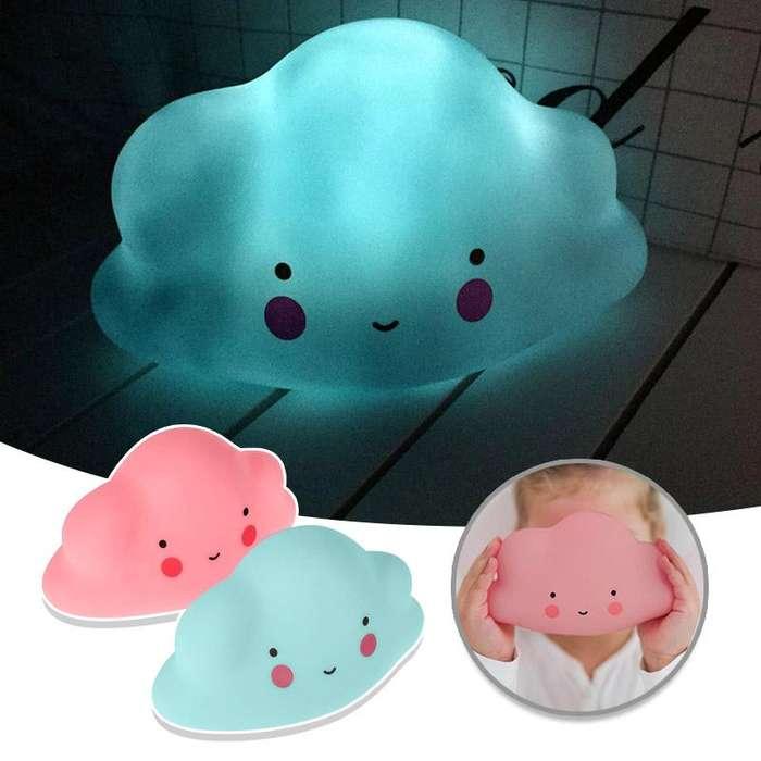 Lámpara Led Nube Bebe Deco Habitación Cuna Hogar RF 547-5