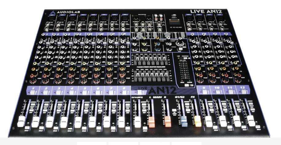 Consola Sonido Audiolab Live AN12 USB 12 Canales Oferta !!!