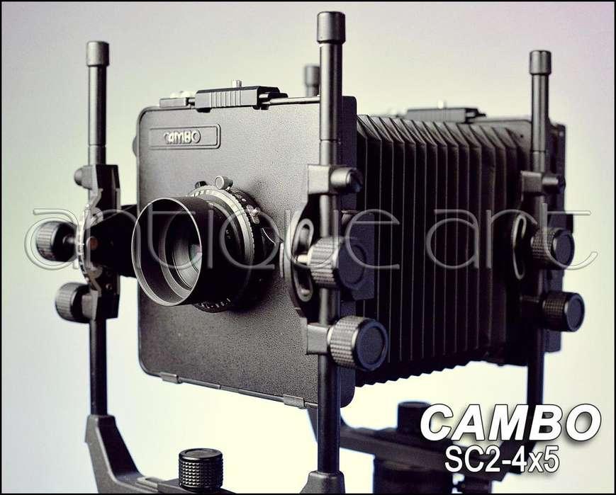 A64 Camara Placa 4x5 Cambo Fuelle Lente 210mm 58mm 150mm