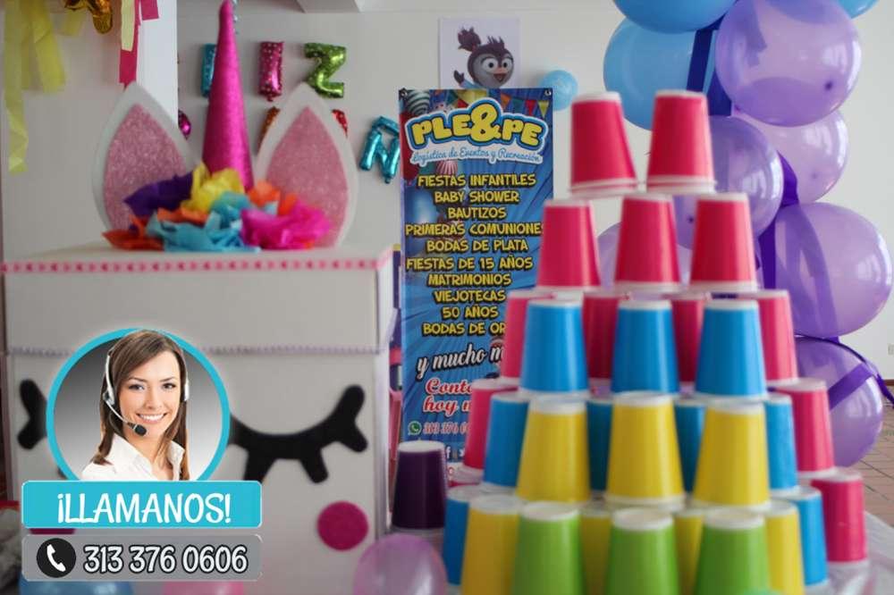 FIESTAS INFANTILES recreadores , recreacionistas , PAYASOS , TITERES , MAGIA , piñatas DECORACIÓN DE FIESTAS