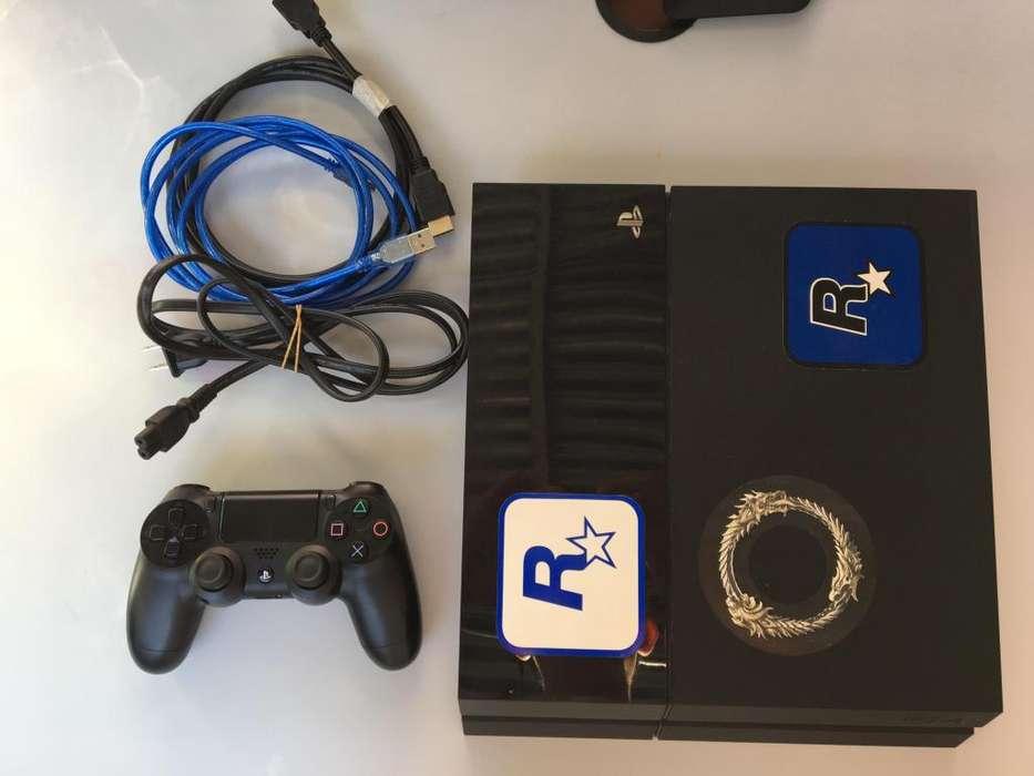 PS4 500GB con 1 joystick IMPECABLE ESTADO! RECIBO TARJETAS!