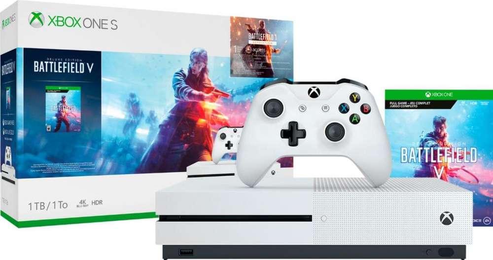 Xbox One S 1TB Battlefield V Nuevo Sellado Tda Miraflores