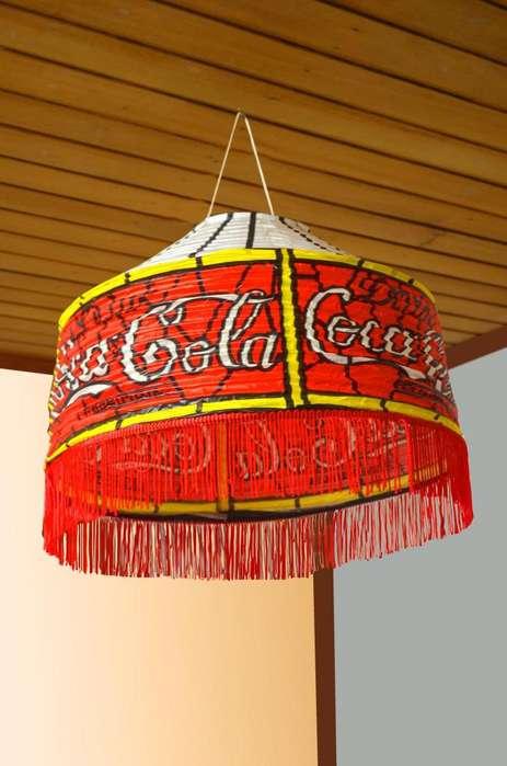 LAMPARAS CAPERUZA MOTIVOS: COCA COLA, MICKEY MOUSE DE PAPEL