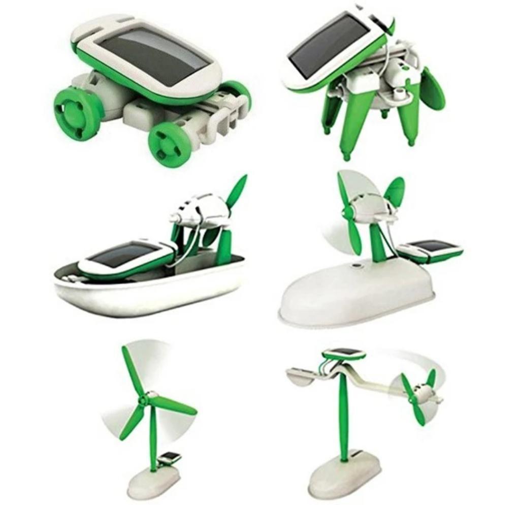 Kit Robot Energía Solar 6 en 1 Didáctico