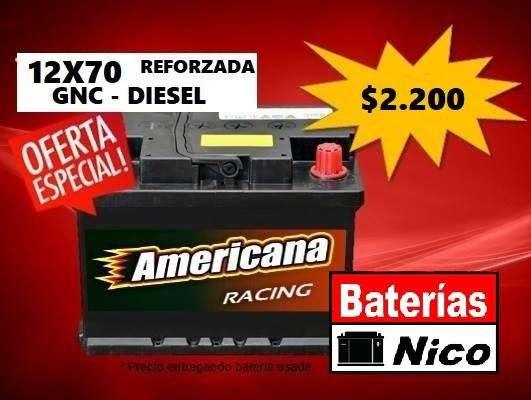BATERÍA 12X70 REFORZADA <strong>gnc</strong>-DIESEL (OFERTA ESPECIAL)