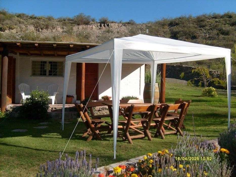 ds44 - Cabaña para 2 a 4 personas con pileta y cochera en Las Heras