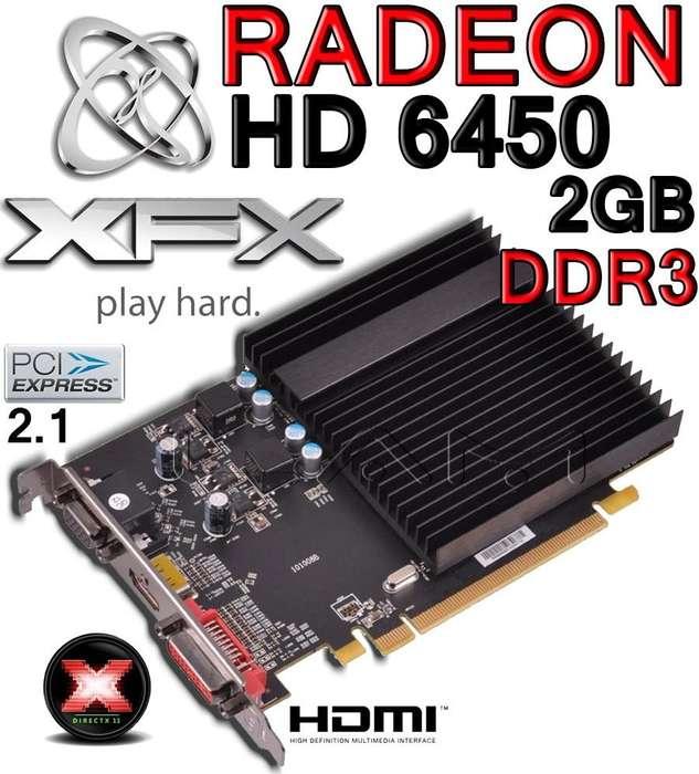 Tarjeta de video XFX HD6450 DDR3 2GB