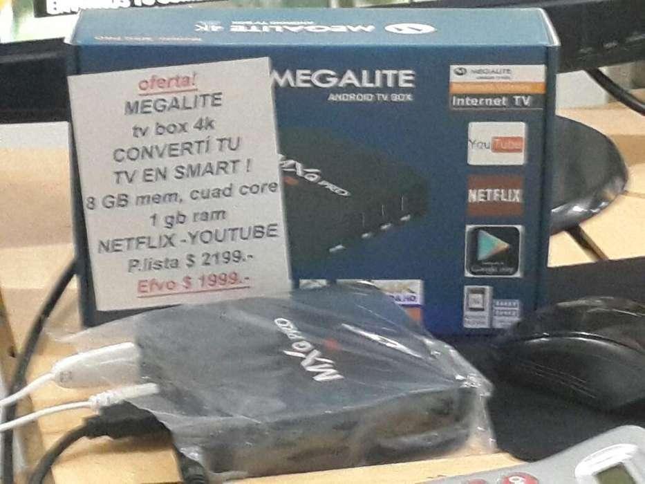Megalite Tv Box 4k!! 8gb Cuad Core