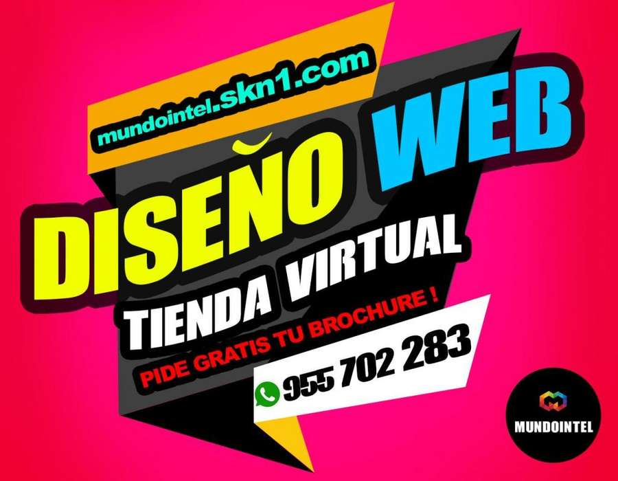 DISEÑO WEB TIENDA VIRTUAL diseño de brochure gratis! CREACION DE PAGINA WEB ADMINISTRABLE DOMINIO HOSTING CORREOS
