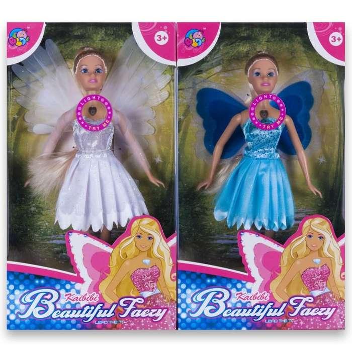 Muñeca tipo Barbie hada con alas mágicas con luz Nueva!