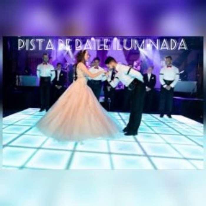Alquiler Pista de Baile iluminada decoración carpas 15 Años Bodas
