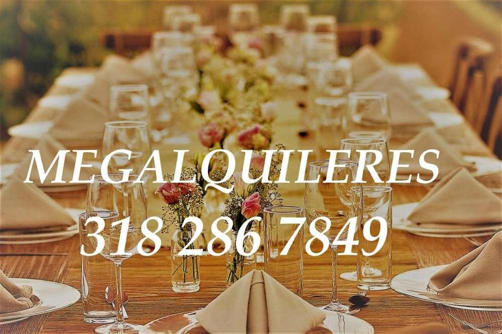 Alquiler de sillas, mesas y menaje para eventos en Boyacá