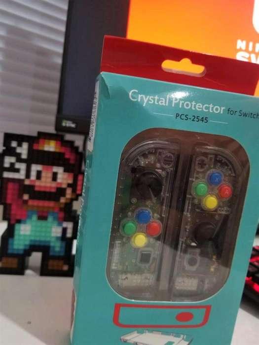 Nintendo Switch Joycons Mod Transparente Oferta