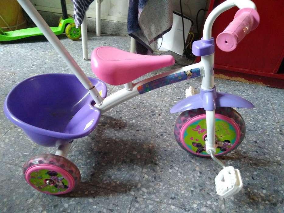 Triciclo Infantil Minnie Impecable