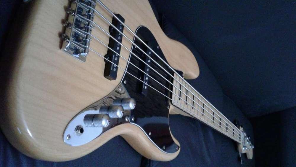 Bajo Squier Jazz Bass Vintage Modified 5 Unico!!