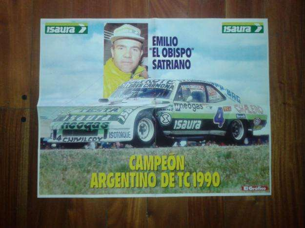 Póster Revista El Gráfico Turismo Carretera Emilio El Obispo Satriano