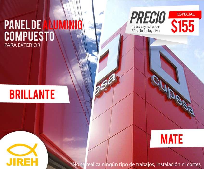 Panel de Aluminio Compuesto para exterior rojo Alucobond, Policarbonato, Acrilico, Cielo raso pvc, fachadas