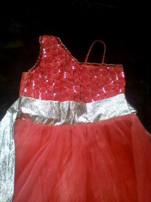 Vestido de Promoción Color Coral