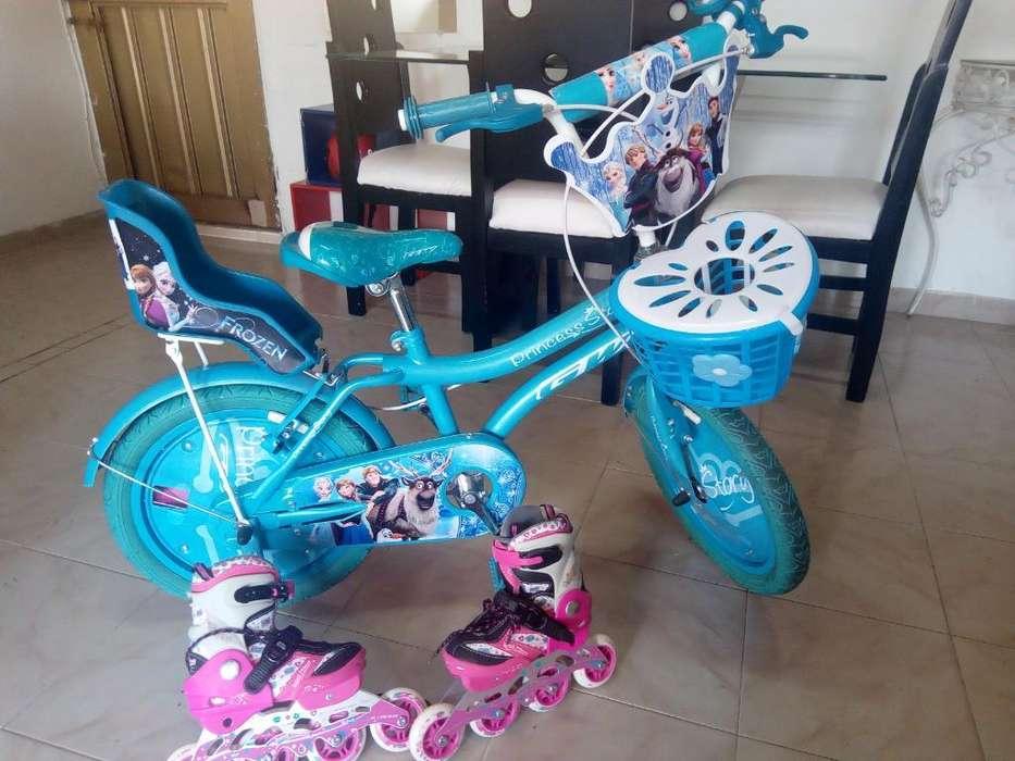 Prom. Bicicleta Y Patines Niña