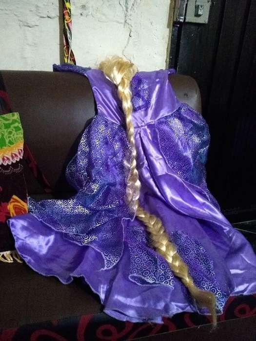 Disfraz de Rapunzel Niña de 5 a 6 Años