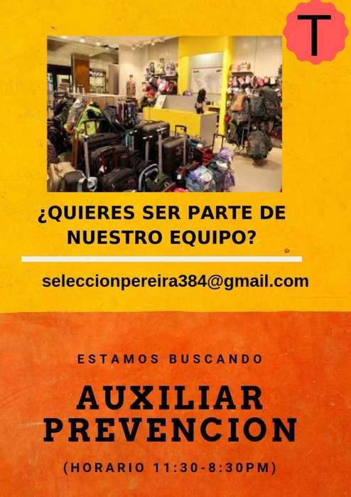 Trabajo <strong>auxiliar</strong> de Prevención Pereira