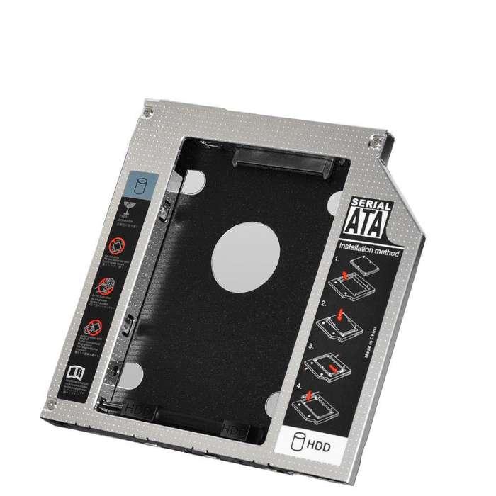 Caddy 9.0 Mm Hdd Adaptador Disco Duro Ssd Sata 3 Cd Dvd