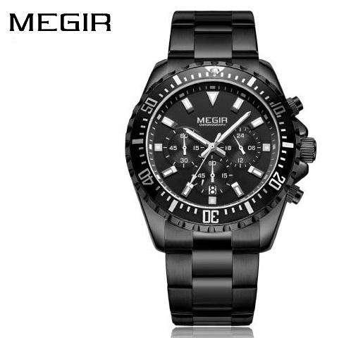 Reloj Megir 2064 Hulk Hombre Cuarzo Cronógrafo Acero