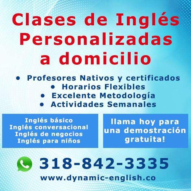 Clases de Inglés Personalizadas a domicilio en Medellin