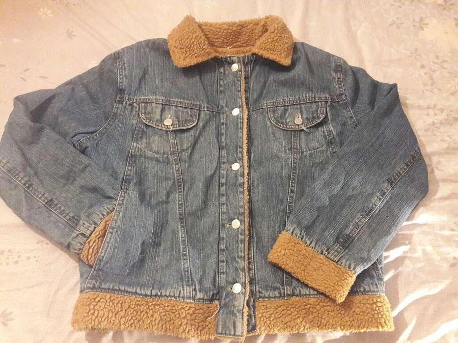 Campera de Jeans con Corderito Talle 4
