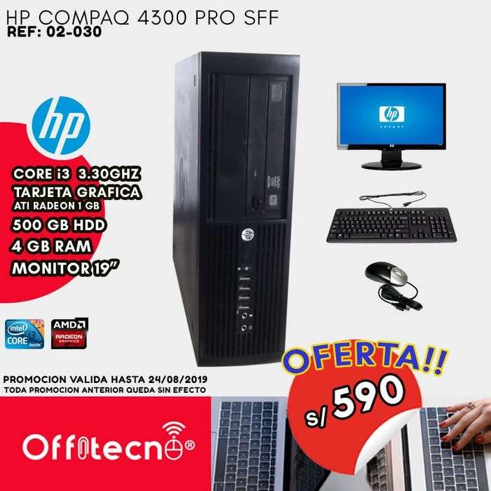 COMPUTADORA COMPLETA HP COMPAQ 4300 PRO SFF