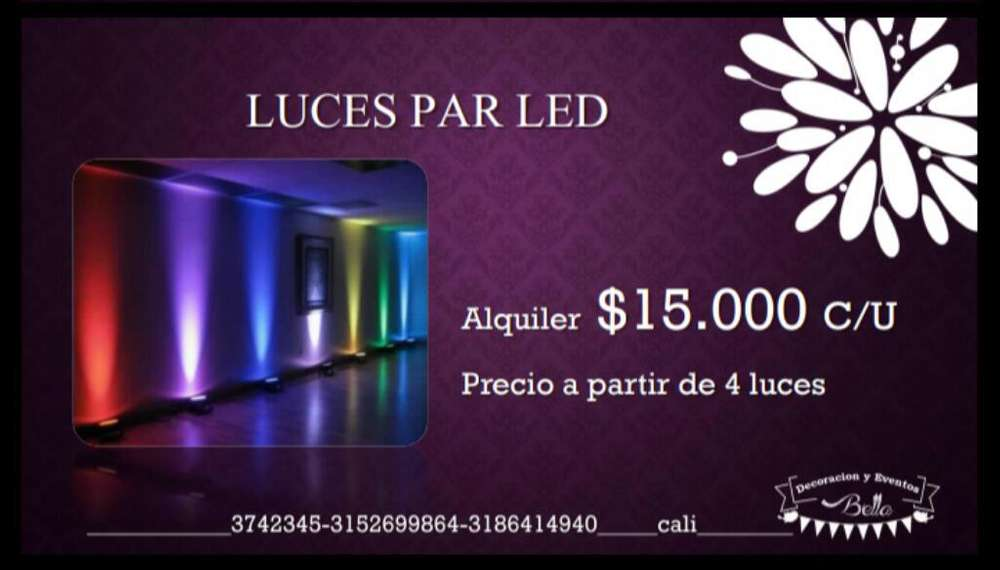 Alquiler de Luces Led (parled)
