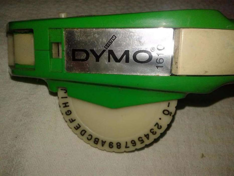 Rotuladora Dymo 1610 funciona letras-numeros Perfecta