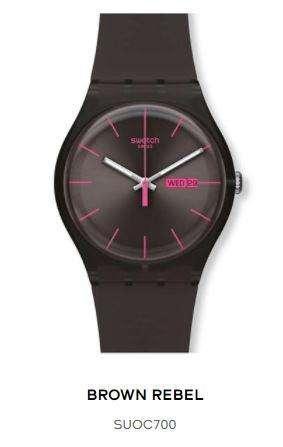 Usado Suoc700 Swatch Malla Silicona Reloj Unisex Rebel Brown 8wOknP0
