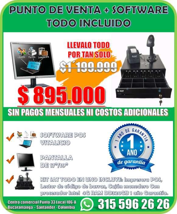 MUEBLES, PUNTO DE <strong>venta</strong> CON SOFTWARE POS TODO INCLUIDO SIN COSTOS ADICIONALES LISTO PARA USAR