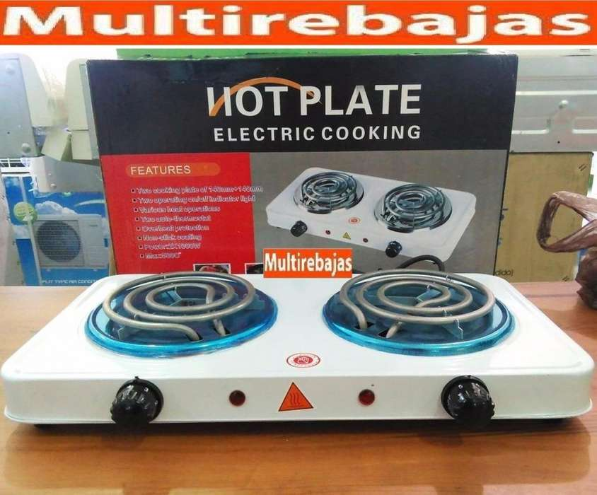 Cocineta Eléctrica Con Dos Hornilla Portatil.