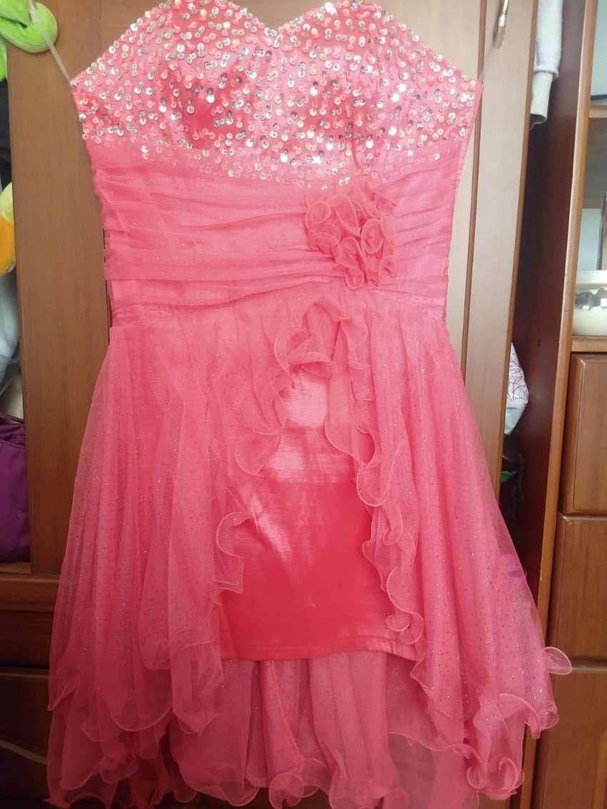 Vestido 15 Años Corto Color Salmón Ropa 1100333484
