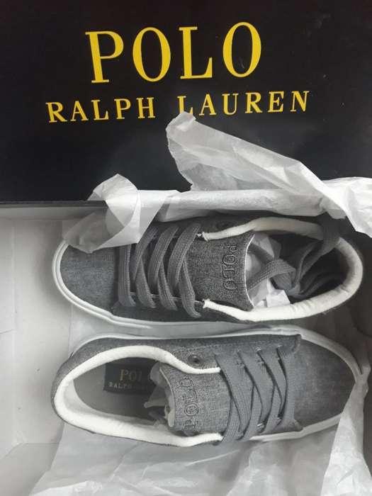 Zapatillas Tenis Polo Ralph Lauren Original Para Niño Importado Talla 29