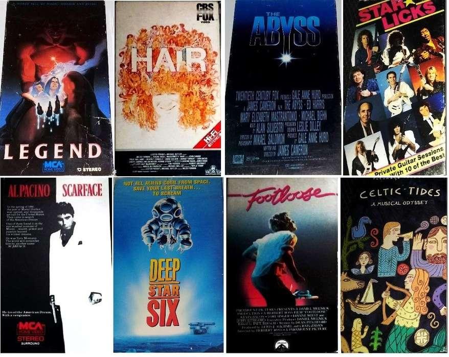 Películas Originales Abismo Footloose Hair Profundidad Seis Leyenda Tom Cruise Caracortada U2 ACDC VAN HALEN POLICE...