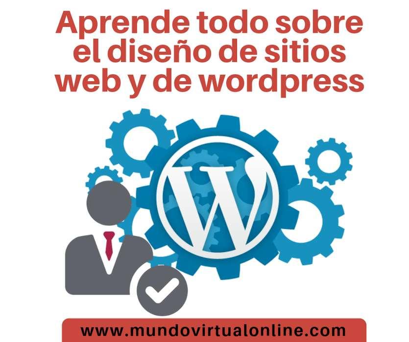 Curso de Diseño de sitios web y wordpress