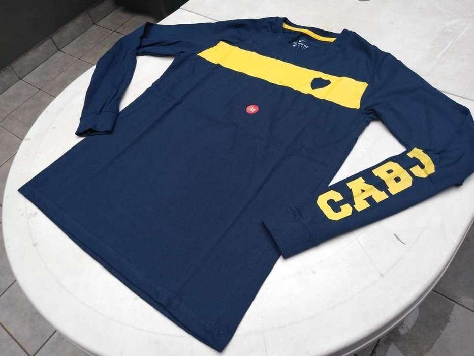 Camisetas Manga Larga Boca Juniors